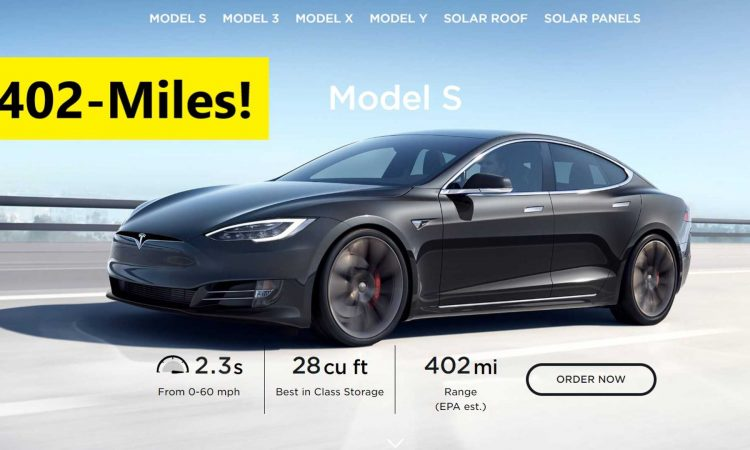 Tesla Model S Becomes World's First 400-Plus Mile Electric ...